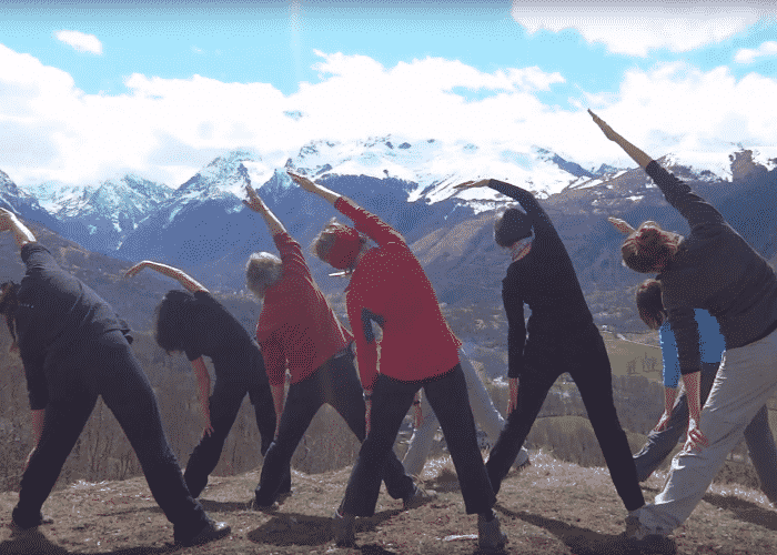stage yoga Pyrénées avril 2016 - 1